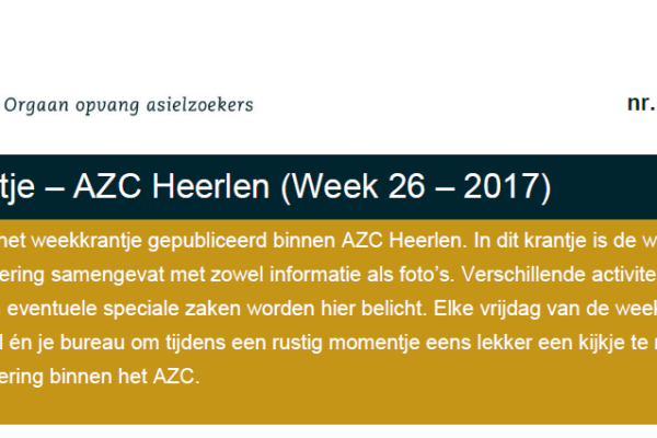 Communicatiemiddel op AZC's